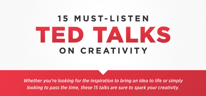15 Must Listen TED Talks on Creativity