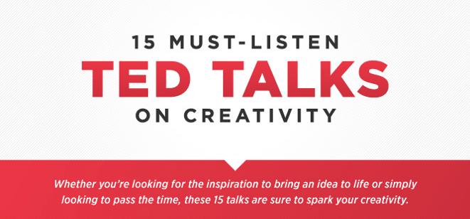 15 Must Listen TED Talks on Creativity