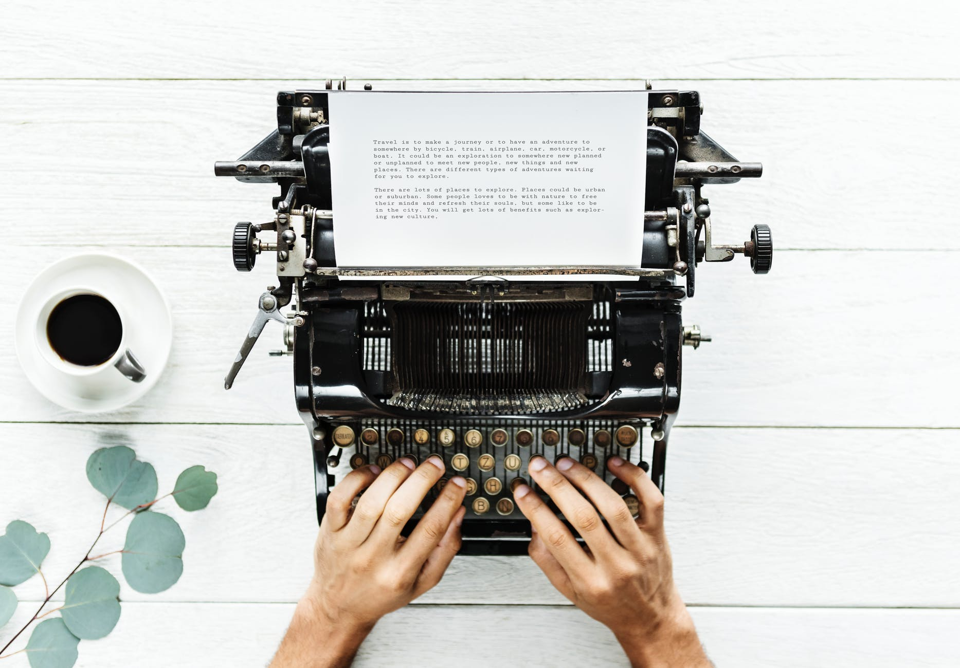 Typing your first novel